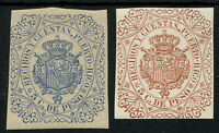 2 x Puerto Rico Revenue / Fiscal Stamps Mounted Mint