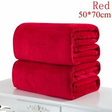 Super Soft Solid Warm Micro Throw Blanket Rug Plush Fleece Bed Quilt Sofa Home Red