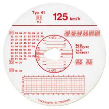 DISCHI TACHIGRAFO 125 Km/h MOTOMETER MADE IN GERMANY