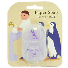 [CHARLEY] Portable Pocket Paper Soap for Outdoor Travel Camping (LAVENDER) 50pcs