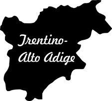 "2x Auto Aufkleber Italien Region "" TRENTINO "" 11x10 cm Car Sticker Südtirol"