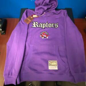 Mitchell & Ness x NBA HWC Toronto Raptors Old English Faded Fleece Hoodie NWT