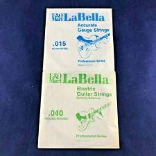 1974 Vintage E&O Mari La Bella Guitar Strings set of Two!