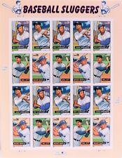 USPS 2005 Baseball Sluggers Postage Stamps Sheet Of 20 - 39 Cent