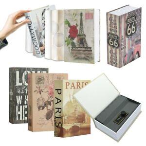 The Real Book Safe Secret Stash Cash Lock Hidden Security Box Storage Hardback