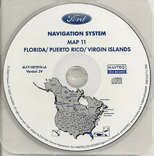 2005 2006 2007 Ford Escape Hybrid Navigation CD Map Coverage FLorida Puerto Rico