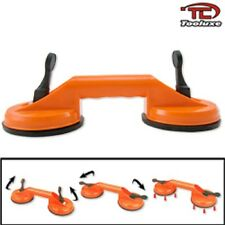 "(2) 4 1/2"" Double Suction Cup Dent Puller Glass Carrying Handle Repair"