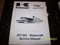 OEM Kawasaki 02 1200 STX-R Jet Ski PWC Watercraft Service Shop Repair Manual