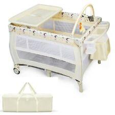 Baby Crib Bed Convertible Nursery Portable Toddler Furniture No Mattress Playard