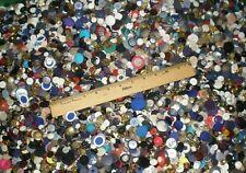 4# Mixed Buttons lot many vintage lbs sew craft metallic plastic 2H4H shank bulk