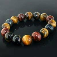 10mm Natural African Roar Natural Tiger's Eye Stone Round Beads Bracelet Gifts