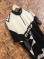 B-Twin Btwin Cycling Jersey Black/White Size L