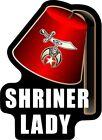 "ProSticker 113 (One) 4"" Masonic Shriner Lady Decal Sticker Lodge Auxiliary"