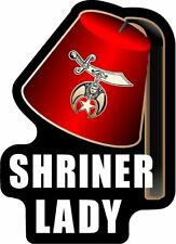 "ProSticker 113 (One) 4"" Masonic Shriner Lady Decal Sticker Lodge Auxiliary"