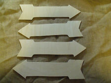 4 plywood arrow sign craft shapes wedding, party, glamping camping message
