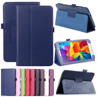 PU Leather Folio Case Stand Cover For Samsung Galaxy Tab 4 7 T230NU T237 Tablets