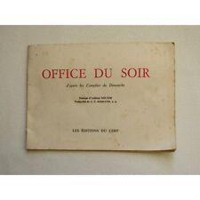 OFFICE du SOIR D'APRÈS les COMPLIES du DIMANCHE, 1958