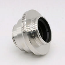 055x Adjustable C Mount Camera Adapters Relay Lens For Leica Microscope