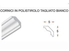 2 CORNICI IN POLISTIROLO TAGLIATE MM 50 x 50 x 1000  DECORAZIONI CASA
