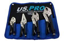 BERGEN Locking Pliers 4pc Mole Grips Adjustable Wrench Vice Grips Pliers 1827