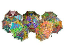 Vintage Embroidered Cotton Umbrella Indian Decor Sun Protection Parasol 50pc lot