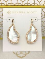 Kendra Scott Earrings Tulip Rose Gold Drop In Ivory Pearl NWT Mother of Pearl