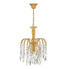 Searchlight 1 Light Shower Waterfall Pendant Chandelier Gold Plated Finish New