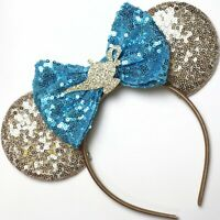 Aladdin- Princess Jasmine Minnie Mouse Ears Headband- Disney World-HANDMADE