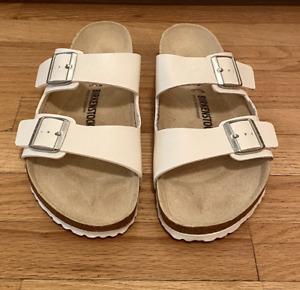 Birkenstock Arizona Birko-Flor White Size 44 / 11 US Mens Sandals