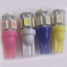 2x T10 Bombillas coche 5 SMD LED 194 168 W5W blanco,azul,amarillo,rosado