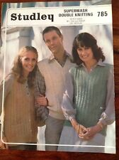 STUDLEY ~ Knitting Pattern ~ Unisex Waistocoat and Slipovers ~ 81-102cms (32-40)