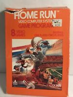 1978 Atari 2600 Home Run Video Game Complete in Box w/Instructions