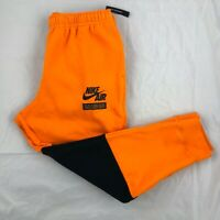 Nike Sportswear Club Fleece Sweatpants Jogger Pants Orange Black Men's L-XXL