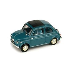 FIAT NUOVA 500 TETTO APRIBILE CHIUSA 1959 BLU MEDIO 1:43 Brumm Auto Stradali
