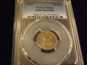 1973    25 Pai          India            PCGS   MS 66