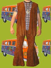 48✪ Hippie Woodstock Herren Fransen Schlaghose 70er Jahre Easy Rider Gr. 52 54