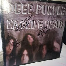 DEEP PURPLE MACHINE HEAD SIGNED X3 LP ALBUM JSA COA IAN GILLAN PACE ROGER GLOVER