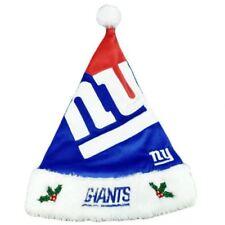 NFL New York NY Giants Velvet Faux Fur Christmas Santa Claus Winter Hat Unisex