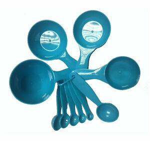 10pc Plastic Measuring Spoons and Cups Set Kitchen Cooking Baking
