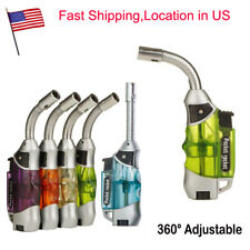 Butane Gas Pocket Cigarette Cigar Pipe Lighter Windproof Jet Flame Gun Torch BBQ