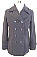 Lands' End Women's Double Breasted Wool Winter Peacoat Jacket Size 8 NWT