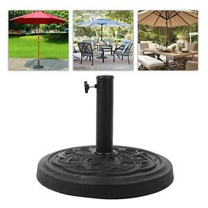 Cast Iron Round Umbrella Parasol Base Stand Patio Outdoor Garden Heavy Duty12kg