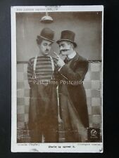 Charlie Chaplin CHARLIE UP AGAINST IT Red Letter Photocard c1915 No. G.106440