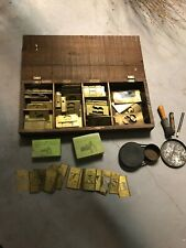 Huge Set Reeses Adjustable Stencils Box Tools Case Antique