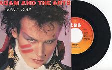 """ADAM & THE ANTS ► Ant Rap / Friends - 45 Tours / 7"""" Vinyle - EUROPE - 1981"""
