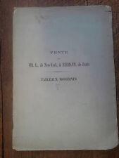 catalogues de  tableaux modernes Vente de MM. L. de New-York & Hermann de Paris