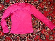ASICS Pink Fitted Long Sleeve Dri Fit Tee w/Princess Seaming Medium M  EUC