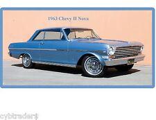 1963 Chevy II Nova  Auto Refrigerator / Tool Box Magnet Man Cave Shop
