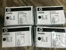HP C6602A - Lot of 4 - BLACK Ink Cartridges SEALED - GENUINE