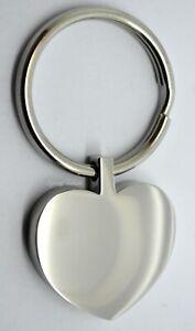 Engraved Heart Cremation Urn Ashes Keyring - Memorial Keepsake - Funeral UK